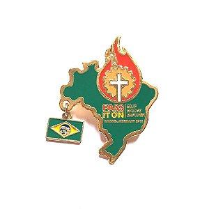 Pin, Pass It On, Mapa do Brasil, com pingente