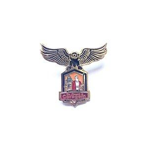 Pin, Um Chamado de Coragem, com Águia e fundo laranja