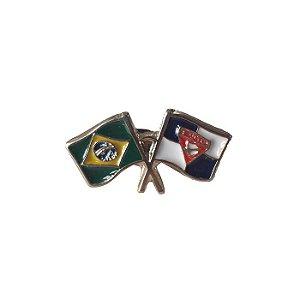 Pin, bandeira DBV e bandeira do Brasil