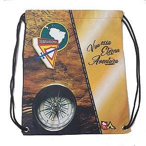 "Mochila sacola, DBV, ""Viva essa eterna aventura"",  Logo D4"