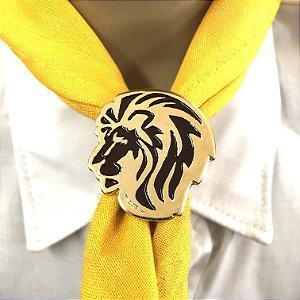 Prend de lenço, cabeça de leão colorido