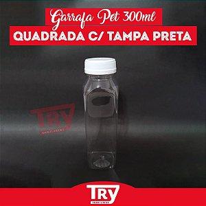 Garrafa Pet 300ml Tampa Branca com Lacre 50 unidades