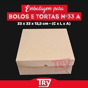 Caixa p/ Tortas, Bolos, Doces, Salgados Nº33 (até 2kg) 5uni