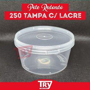 Pote Redondo 250ml Com Lacre Freezer E Microondas C/ 20 Unidades
