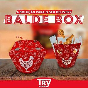 Balde Box Papel P/ Frango Frito 3,0lt (25 Un)