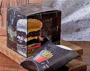 Caixa Box Embalagem Para Hambúrguer Artesanal Triplex 50un (g)