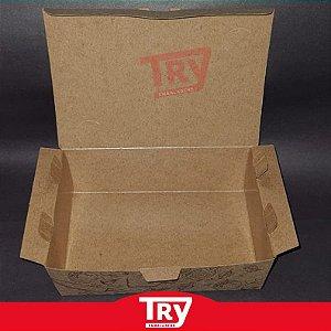 Embalagens Multiuso Kraft - Slim Box Pequena 800ml (50 UN)