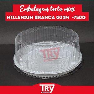 Embalagem Torta Mini Millenium Branca G 32M - 750g (50 UNIDADES)