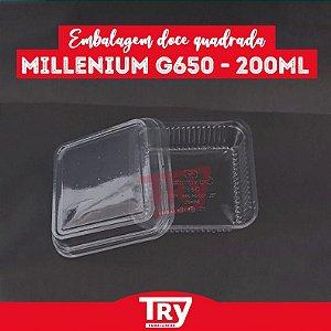 Embalagem Doce Quadrado Millenium G 650 - 200ml