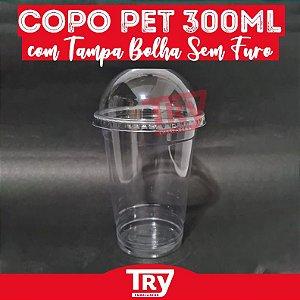 Copo Da Felicidade Pet 300ml C/ Tampa Bolha Sem Furo (50 Un)