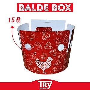 Balde Box Papel P/ Frango Frito 1,5lt (25 Un)