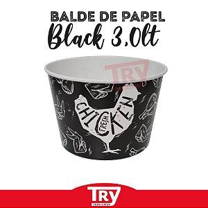 Balde De Papel Black P/ Frango Frito 3,0lt (50 Unidades)