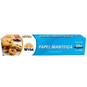 ROLO DE PAPEL MANTEIGA 29CMx50M - 9 UNIDADES