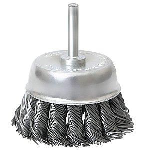 Escova de aço carbono latão torcida 65mm x 6mm 744689 Mtx