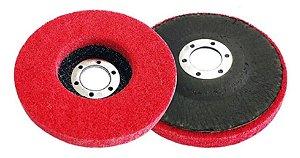 KIt 2 Disco Para Polimento Inox 115mm 4 1/2 Lotus - 3255