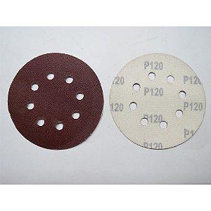Disco De Lixa Com Aderência Grao 120 125mm 5x1 738069 Mtx