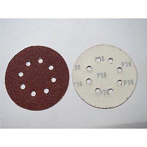 Disco De Lixa Com Aderência Grao 36 125mm 5x1 738019 Mtx