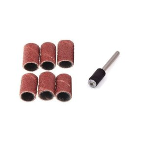 Kit 6 Tubos de Lixa 1/4 Suporte p Micro Retíficas Black Jack