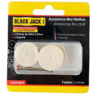 Discos de Pano com 4 Peças para Micro Retífica Black Jack