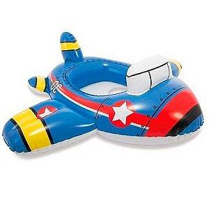 Boia Aviãozinho Infantil Baby Bote Kiddie Intex 59586
