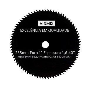 Disco Corte P/Roçadeiras Seco/Molhado 40 dentes D1-21 Vidmix