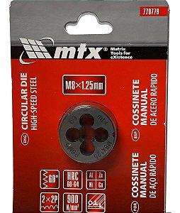 Cossinete Tarraxa Aço Rápido M8 X 1.25 mm 770779 Mtx