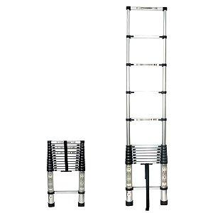 Escada Telescópica 12 Degraus 3,8 metros Alumínio HAS Tools