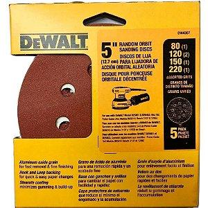Jogo de Lixas para Lixadeira Roto Orbital Dw4307 Dewalt
