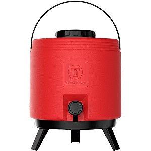 Botijão Térmico 6 Litros Vermelho Térmolar