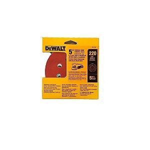 """Kit com 5 Discos de Lixa 5"""" n°220 com 8 Furos DW4306 Dewalt"""