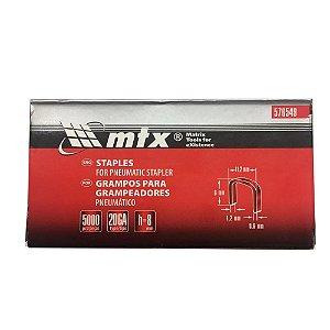 Grampo para grampeador pneumático 8mm 5000 Unid 576549 MTX
