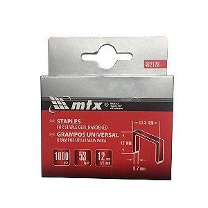Grampo P/ Grampeadores Tipo 53com 12mm 1.000 unid 412129 MTX