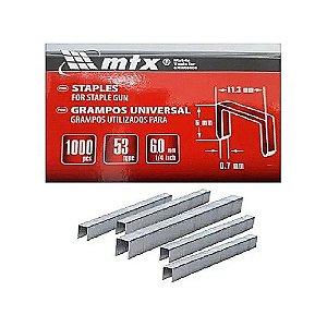 Grampos 6mm temperado p/ Grampeadores tipo 53 1000 peças mtx