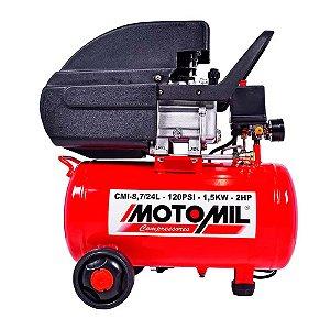 Compressor de ar Bivolt 24 litros 2Hp CMI-8,7/24l Motomil
