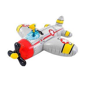 Bote Infantil Avião Inflável com Pistola de Agua 57537 Intex