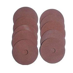 Disco Fibra de lixa 4.1/2 para Lixadeira Grão 60 Thompson