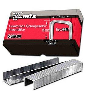 Grampo para grampeador pneumático 20mm 5000 Unid 576069 MTX