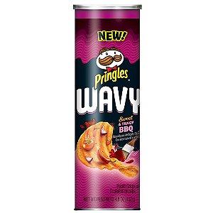 Pringles Wavy Sweet Tangy BBQ 137g'
