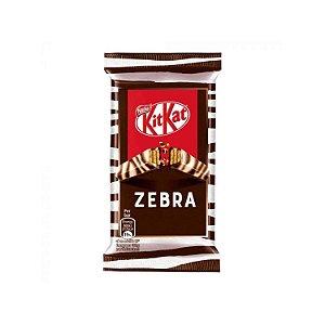 Kit Kat importado Zebra com chocolate amargo e branco 41,5g