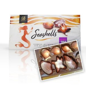 Seashells Bombons c/ Recheio de Avelã - Fabricado na Bélgica