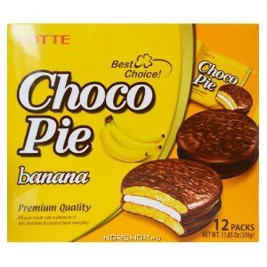 Orion Chocopie Alfajor Banana com Marshmallow 12 un 468g