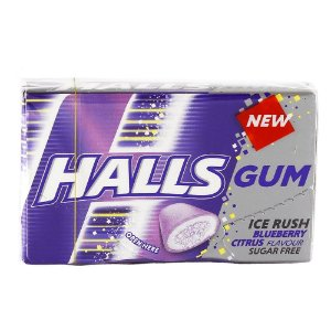 Halls Gum Ice Blueberry 18g