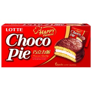 Lotte Chocopie Alfajor com Marshmallow 6 un 168g