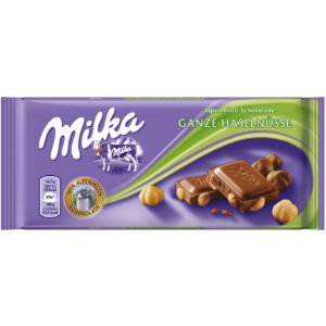 Milka Whole Hazelnuts 100g