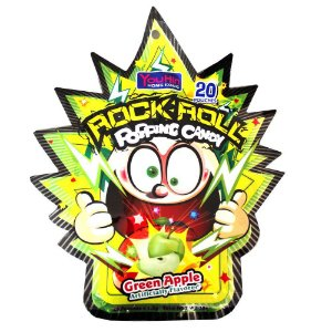 Rock Roll Popping Candy Green Apple 30g
