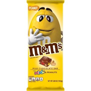 M&M's Milk Chocolate Bar with minis and Peanut 113.4g