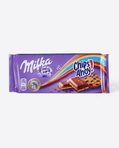 Chocolate ao Leite Milka Chips Ahoy 100g