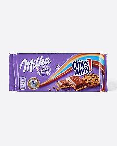 Chocolate ao Leite Milka Chips Ahoy 100g