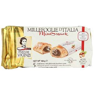 Matilde Vicenzi Minisnack Folhado com Creme de Avelã 125g