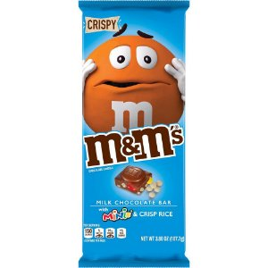 M&M's Milk Chocolate Bar with minis and Crisp Rice 110.6g